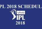 IPL Match Schedule 2018 Time Table