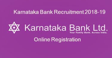 Karnataka Bank Recruitment 2018-2019 Clerk PO and SO vacancies