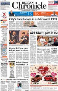 Deccan Chronicle News Paper Pdf